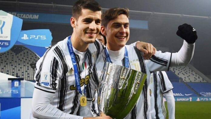 Dybala e Morata con la Supercoppa