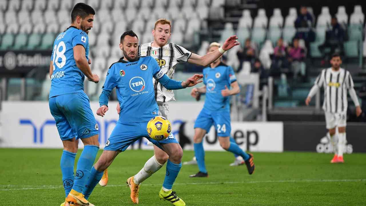 Juventus e Spezia in azione