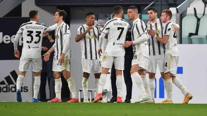 La Juventus esulta al gol