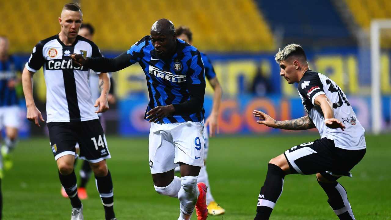 Parma ed Inter in campo