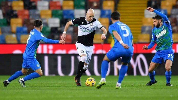 Udinese e Sassuolo in campo