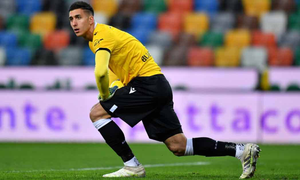 Juan Musso in campo con l'Udinese