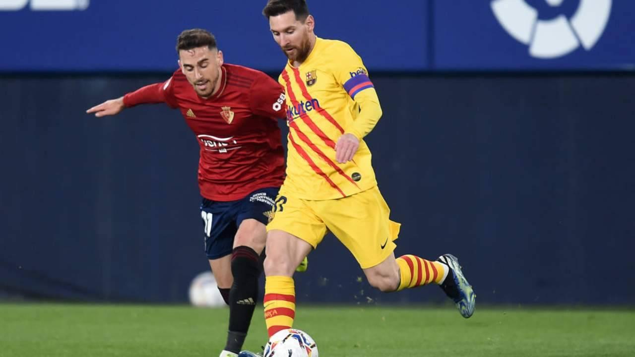 Messi porta palla