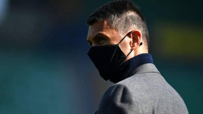 Maldini con mascherina al Bentegodi