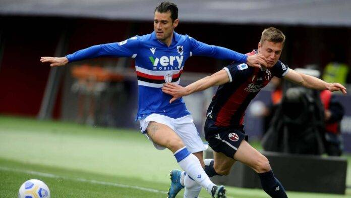Bologna e Sampdoria in azione
