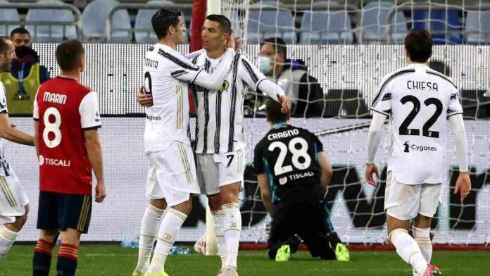 Cagliari e Juventus in campo