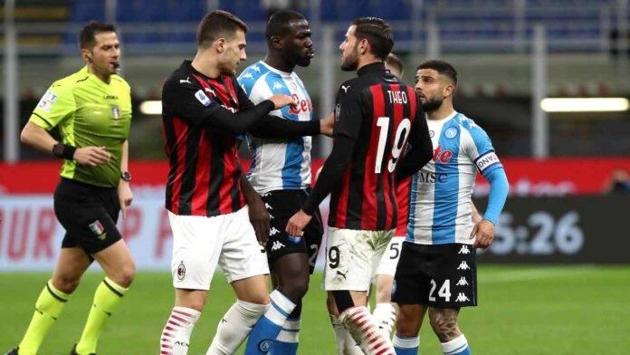 Napoli e Milan in campo