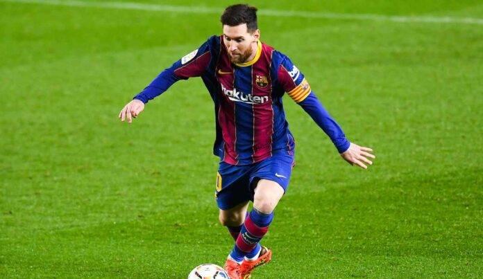 Leo Messi in azione