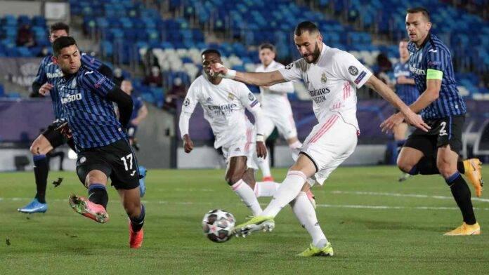 Real Madrid e Atalanta in azione