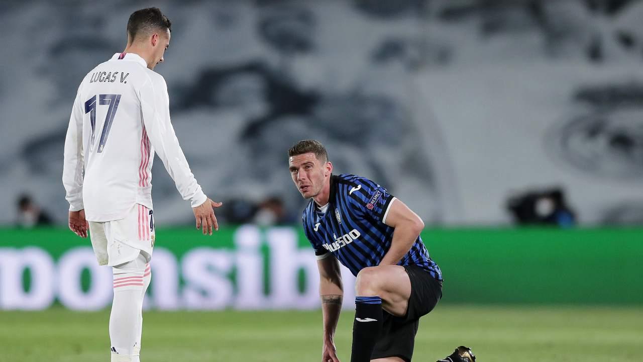 Real Madrid ed Atalanta in campo
