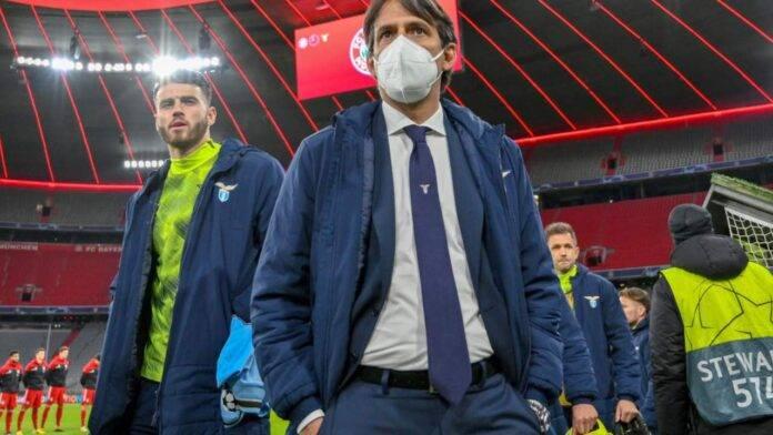 Inzaghi con mascherina a Monaco