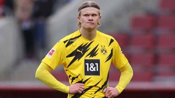 Haaland in campo col Borussia Dortmund