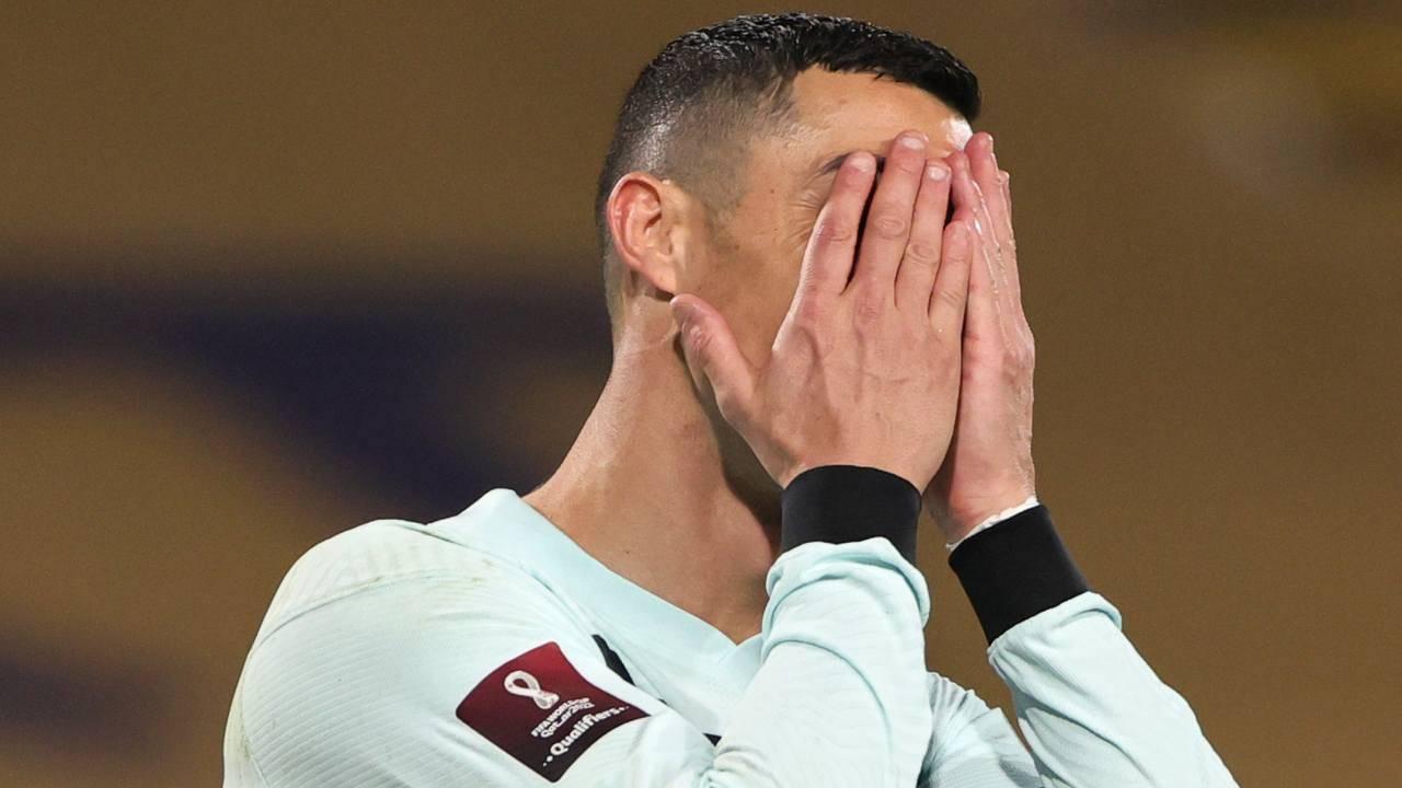 Cristiano Ronaldo infuriato