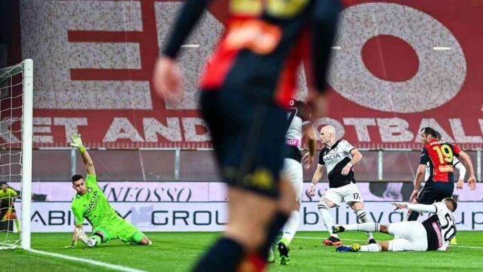 Il gol di Goran Pandev in Genoa-Udinese