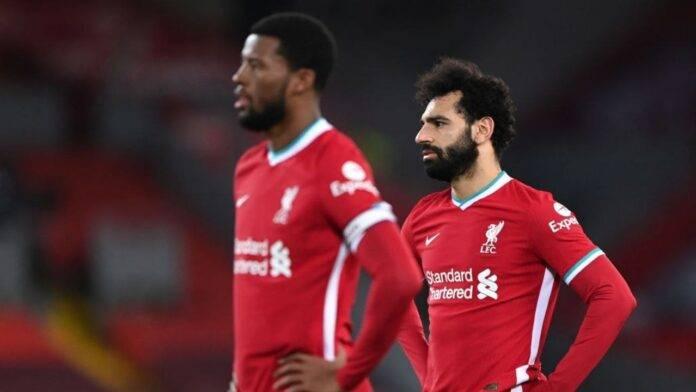 Wijnaldum e Salah in azione