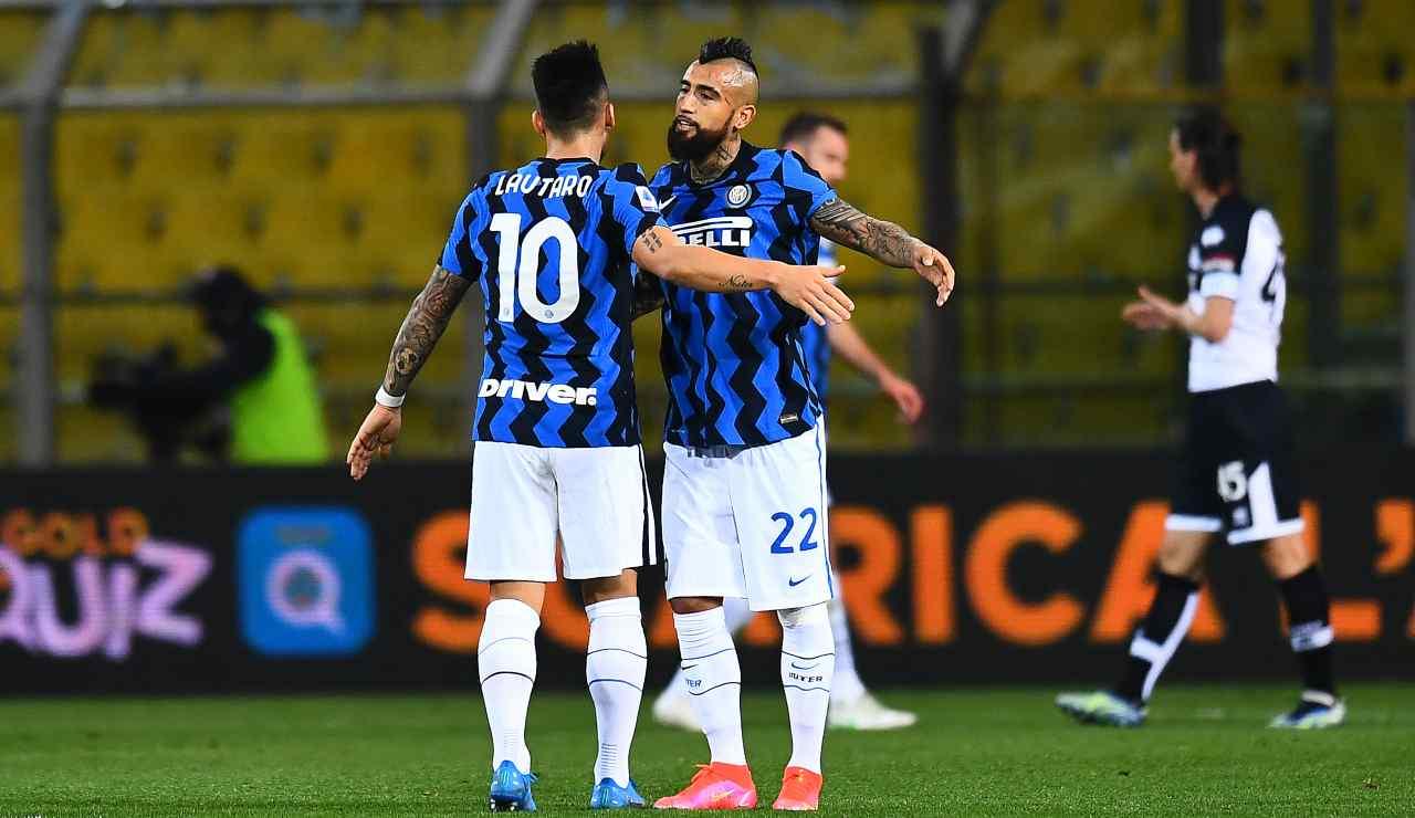 Inter Vidal infortunio