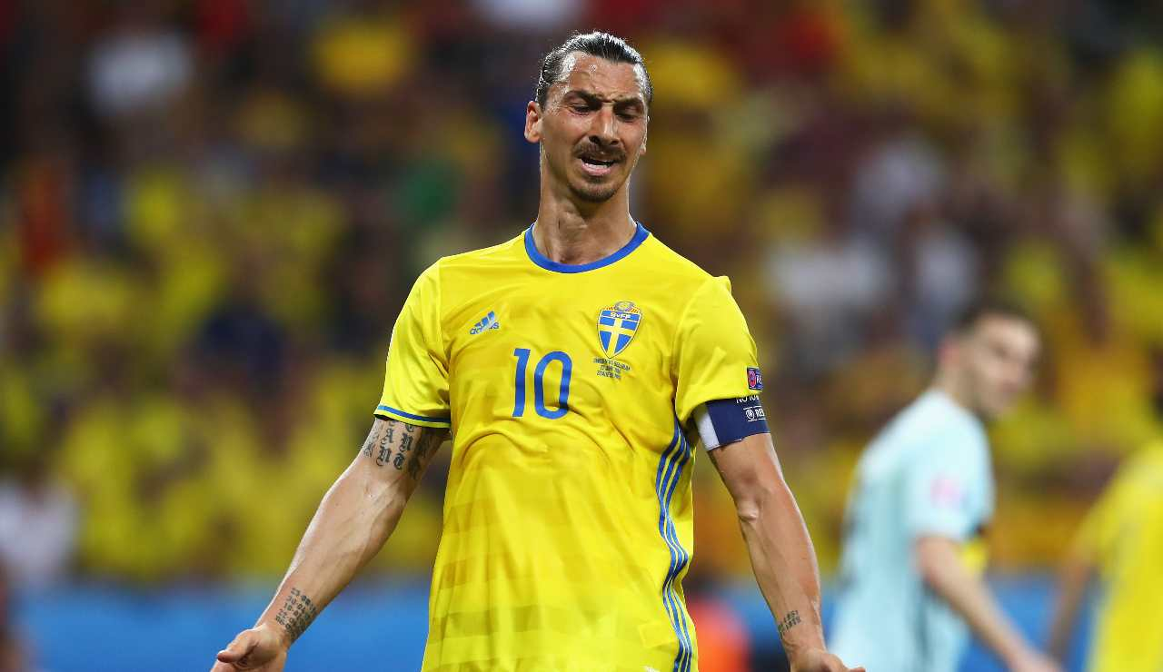 Ibrahimovic con la Svezia