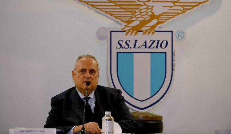 Lotito in conferenza stampa