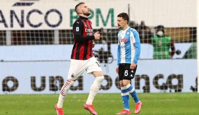 Rebic contro il Napoli