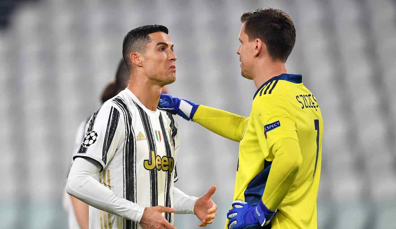 Cristiano Ronaldo e Szczesny
