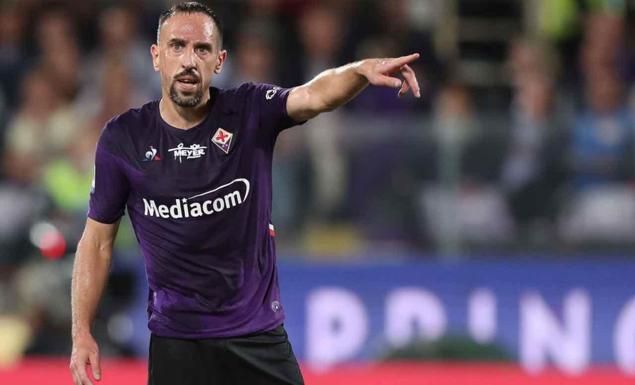 Ribery in campo con la Fiorentina
