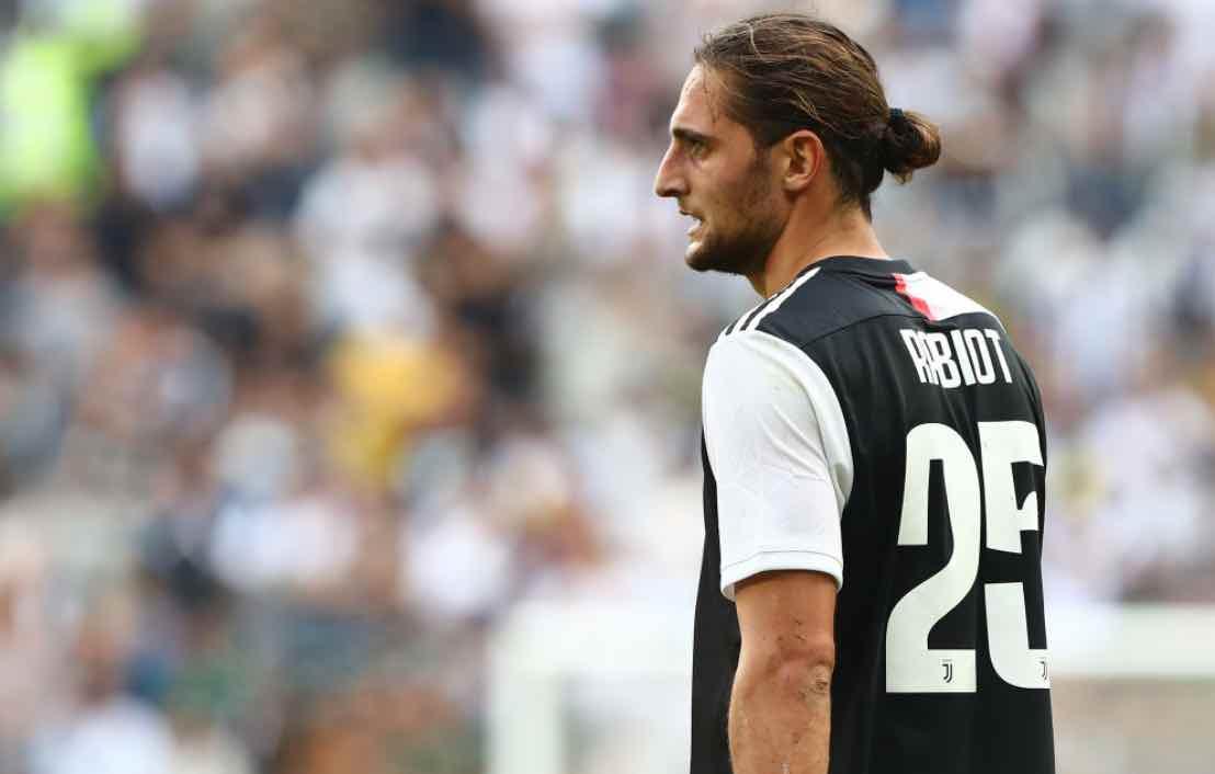 Rabiot in campo con la Juventus