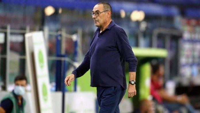 Maurizio Sarri in campo