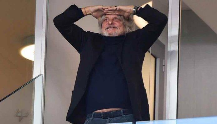 Sampdoria, il presidente Ferrero allo stadio