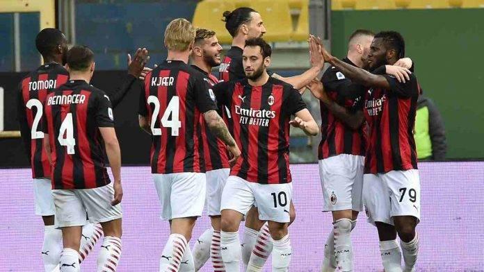 Il Milan esulta