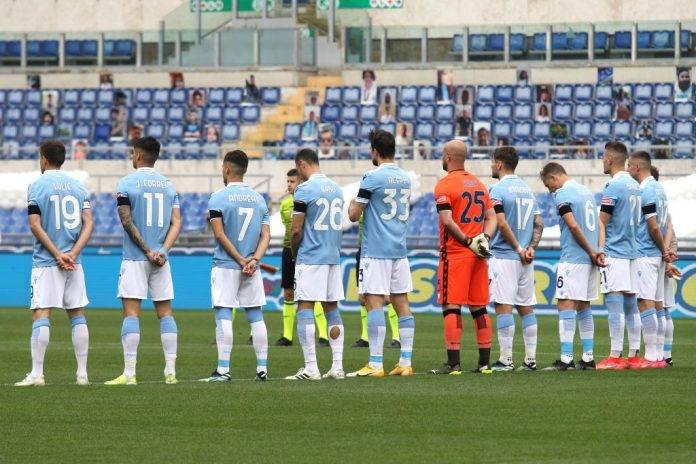 La Lazio schierata in campo, Serie A