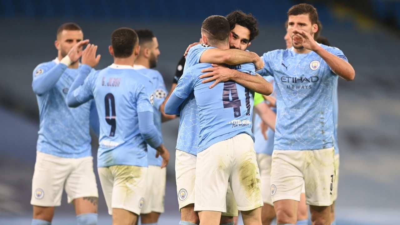 Il Manchester City esulta