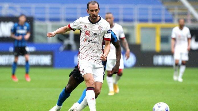 Diego Godin in azione