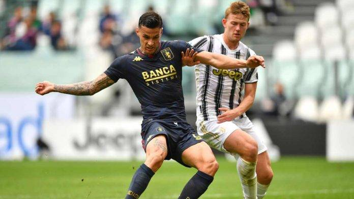 Juventus e Genoa in azione