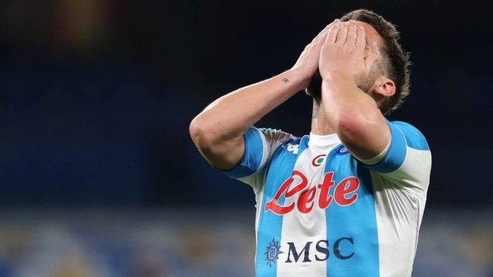 Dries Mertens in lacrime