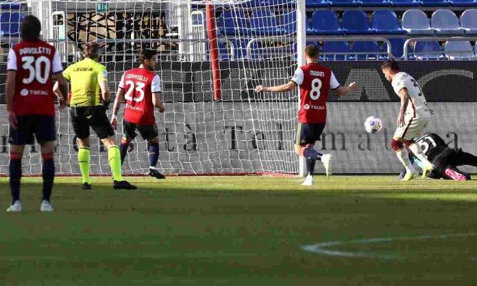 Cagliari-Roma in campo