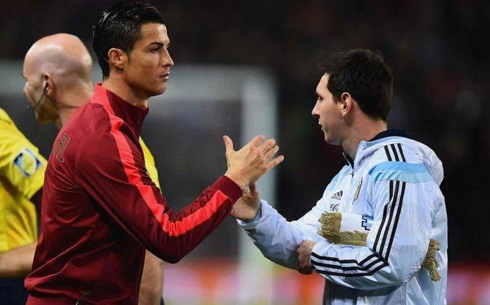 Messi e Ronaldo si salutano in campo