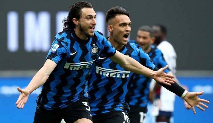 Darmian esulta in Inter-Cagliari