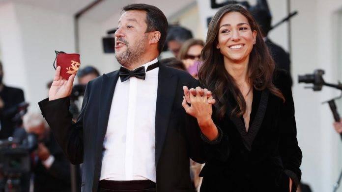 Salvini con la compagna Verdini alla 77esima mostra del cinema di Venezia
