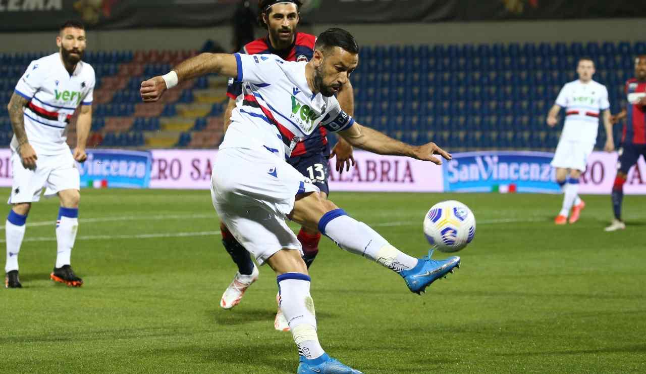 Sampdoria Quagliarella rinnovo
