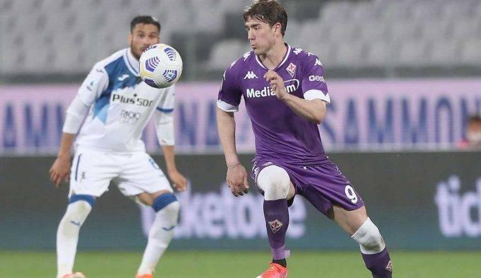 Vlahovic Fiorentina rinnovo Juventus Milan Champions League