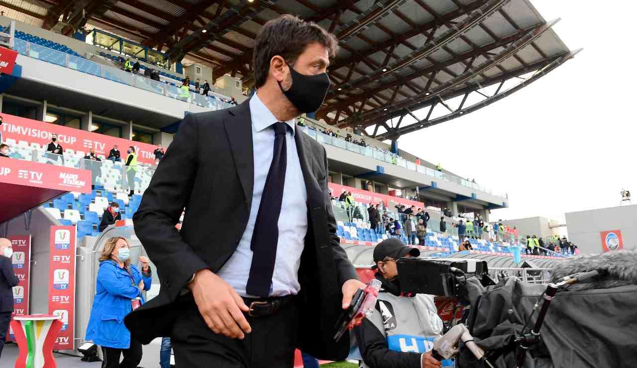 Andrea Agnelli con la mascherina
