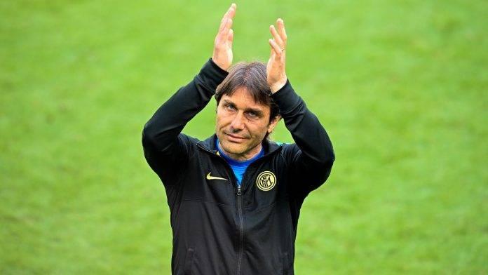 Conte durante la sua ultima apparizione come allenatore dell'Inter