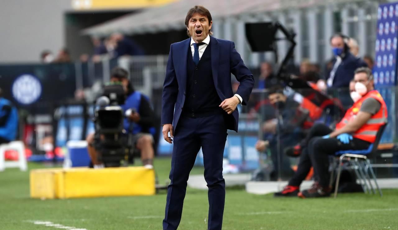 Antonio Conte alza la voce nell'ultima partita dell'Inter