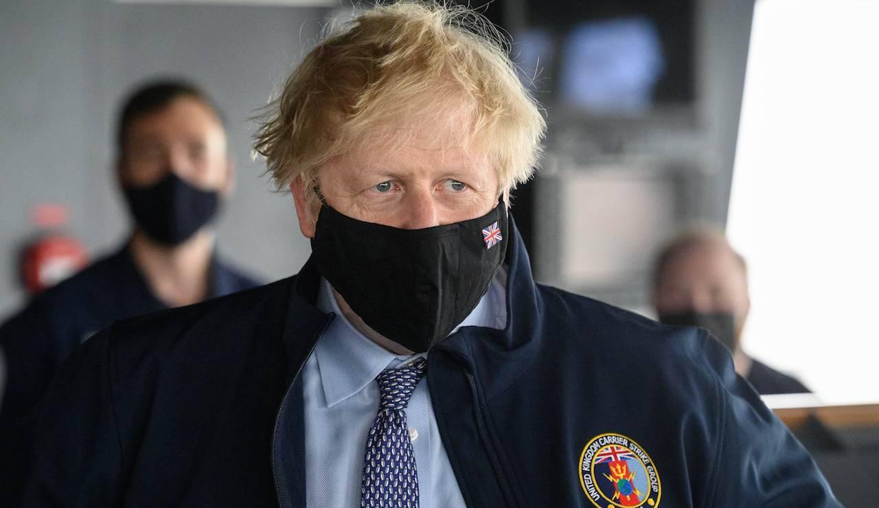 Lo sguardo di Boris Johnson, premier inglese