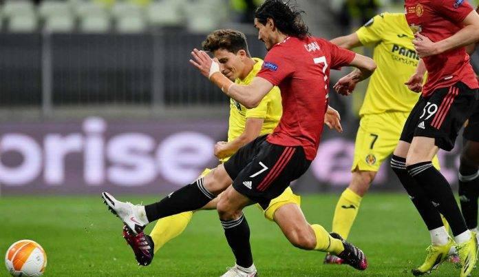 Il gol dell'1-1 di Edinson Cavani nella finale di Europa League di Danzica