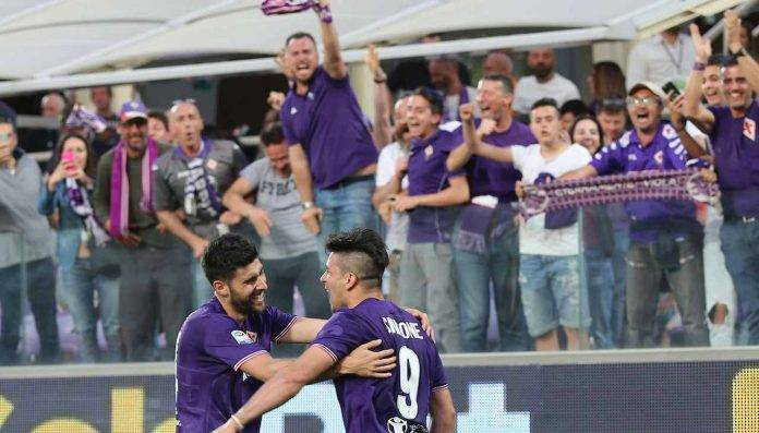 Fiorentina Napoli Simeone esulta