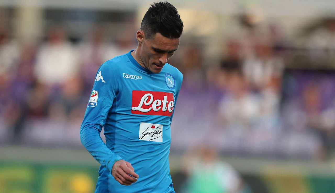 Callejon deluso in Fiorentina-Napoli