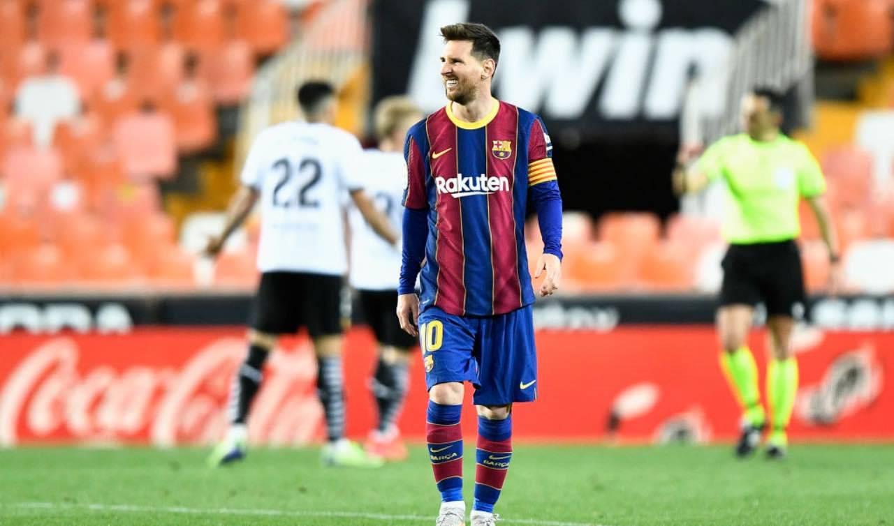 Lionel Messi stizzito