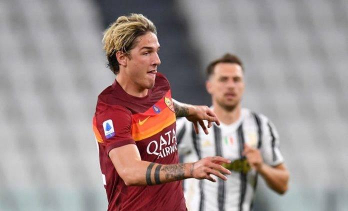 Zaniolo contro la Juventus