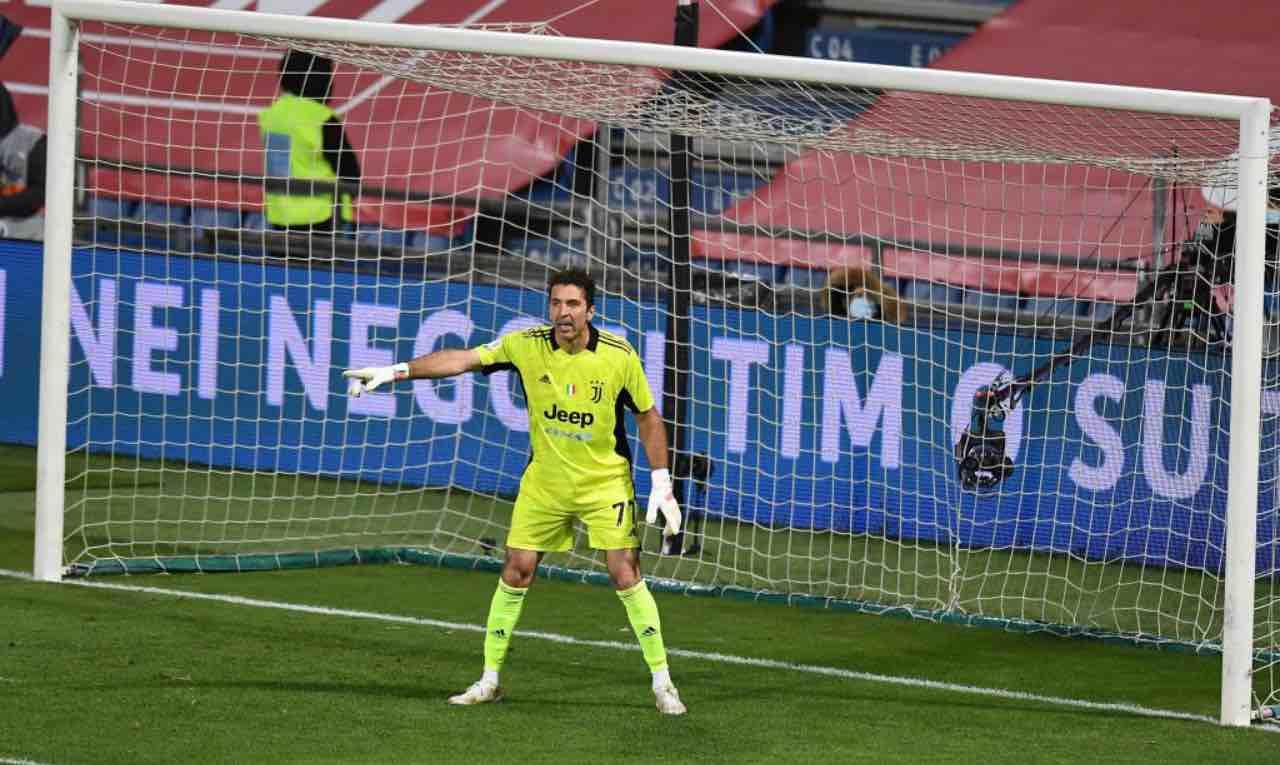 Gigi Buffon durante la finale di Coppa Italia